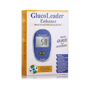 Glucoleader Enhance Blood Glucose Meter (Blue)